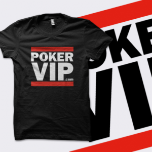 PokerVIP 'Run' T-Shirt - Black - UK Shipping
