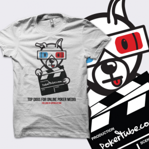 PokerTube 'Top Dogs' T-Shirt - White - UK Shipping