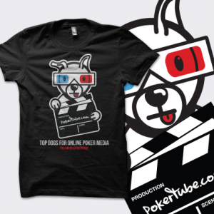 PokerTube 'Top Dogs' T-Shirt - Black - UK Shipping