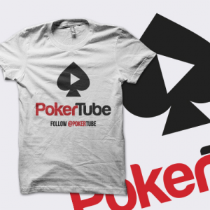 PokerTube 'Play' T-Shirt - White - UK Shipping