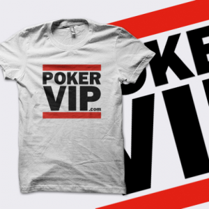 PokerVIP 'Run' T-Shirt - White - UK Shipping